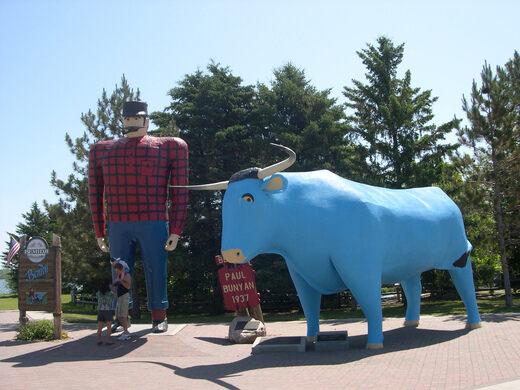 Paul Bunyan Babe The Blue Ox Bemidji Bemidji Minnesota - Paul bunyun in us map