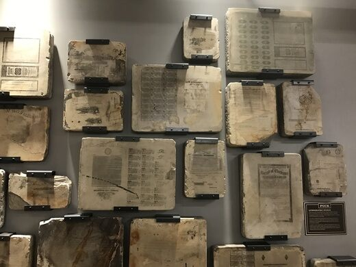 REI's Wall of Litho Stones – New York, New York - Atlas Obscura