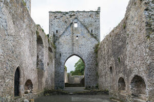 Inside the ruins of the old priory.