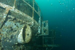 Oriskany two years after sinking.