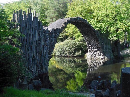 Rakotzbrücke Devil's Bridge – Gablenz, Germany - Atlas Obscura