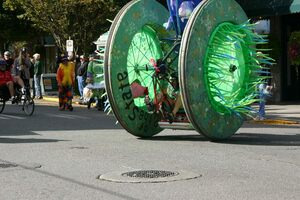 Racers create human-powered vehicles to compete in the annual race.