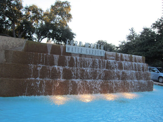 Fort Worth Water Gardens Fort Worth Texas Atlas Obscura