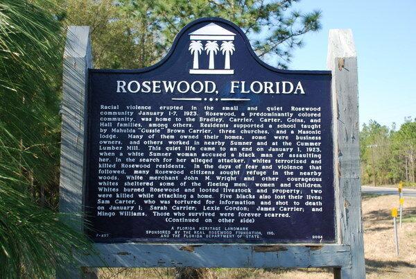 site of the rosewood massacre  u2013 cedar key  florida