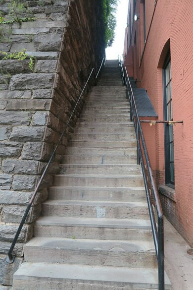 Image result for exorcist stairs