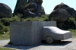 """Car in Concrete."""