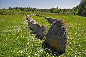 A replica Stone Ship in Gnisvärd not far from the originals.