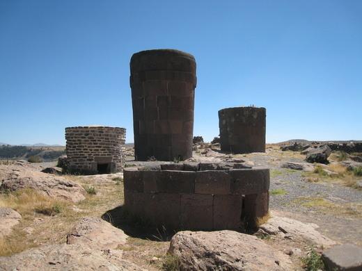 Risultati immagini per Ancient Towers Chulpa Of Lake Titicaca Peru