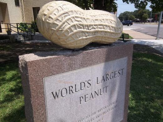world s largest peanut durant oklahoma gastro obscura