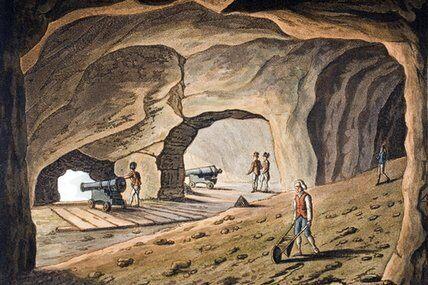 Secret Chamber In The Rock Of Gibraltar Gibraltar