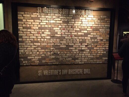 St Valentine S Day Massacre Wall Las Vegas Nevada Atlas Obscura