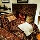 Freud's psychoanalytic couch.