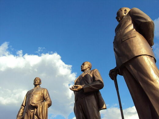 The Three Dikgosi – Gaborone, Botswana - Atlas Obscura