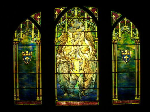Stained Glass At Navy Pier Chicago Illinois Atlas Obscura