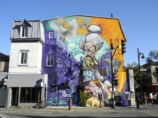 The Murals on Saint Laurent Boulevard