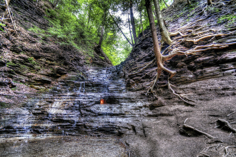 eternal flame falls at chestnut ridge county park orchard park new york atlas obscura atlas obscura