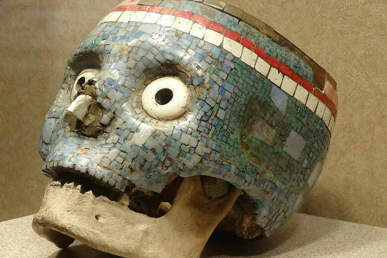 Mosaic Votive Skull