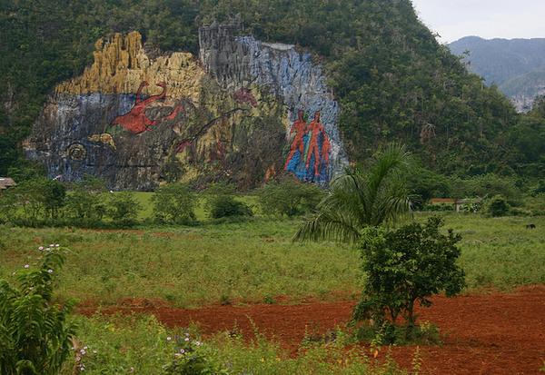 Vi ales mural de la prehistoria vinales cuba atlas for Mural de la prehistoria cuba