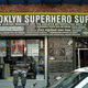 The outside of The Brooklyn Superhero Supply Company.