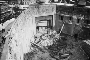 View into the theater after the disaster.