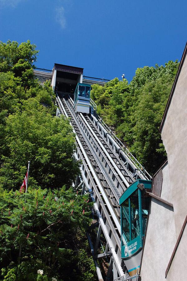 Old Qu 233 Bec Funicular Qu 233 Bec City Qu 233 Bec Atlas Obscura