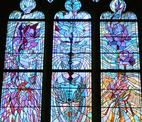 église Saint Maximin Stained Glass Windows Metz France Atlas