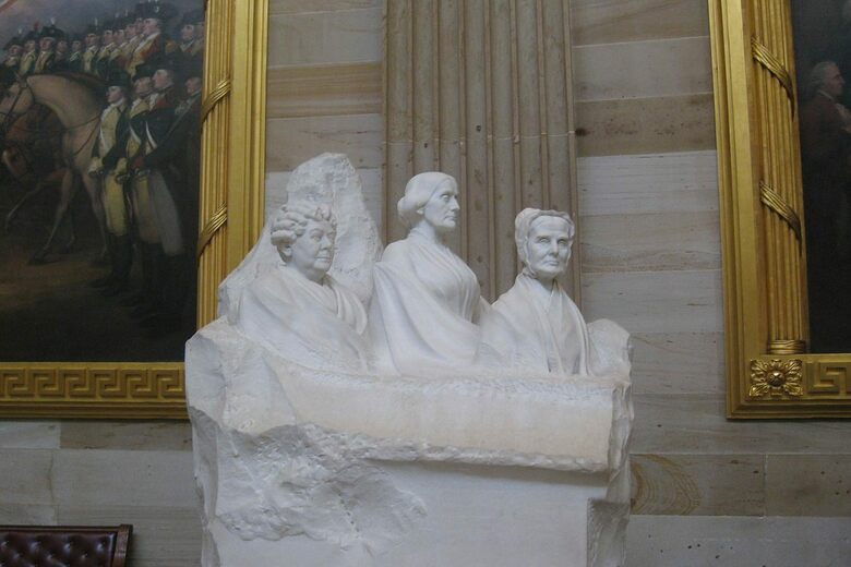 The Sculpture At The U S Capitol Building Rotunda