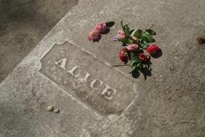 Alice's grave at All Saint's Church.