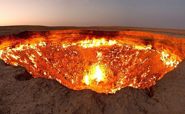 Image result for the gates of hell turkmenistan