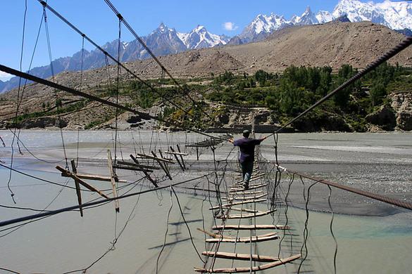 Image result for Hussaini hanging bridge in Pakistan