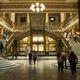 Entering the bustling lobby of Correo Mayor