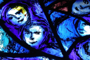 Detail of a Chagall piece inside the church