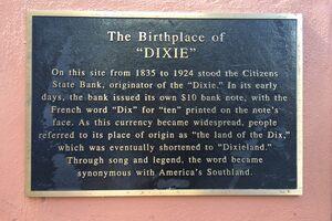 The plaque.