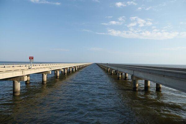 Lake Pontchartrain Causeway in New Orleans, Louisiana