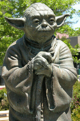 2037074f32745 View all photos. Statue of Yoda.