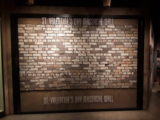 St Valentine S Day Massacre Wall Las Vegas Nevada Atlas Obscura