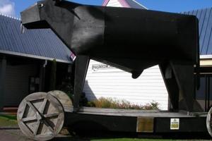 Giant bull statue in downtown Bulls