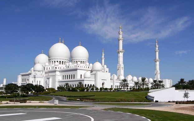 Sheikh Zayed Grand Mosque Abu Dhabi United Arab Emirates Atlas