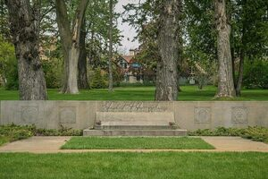 The final resting place of Hubert H. and Muriel Humphrey in Minneapolis