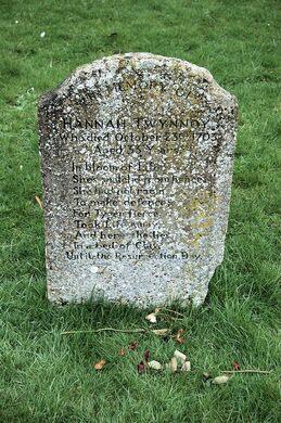 hannah twynnoy s gravestone malmesbury england atlas obscura