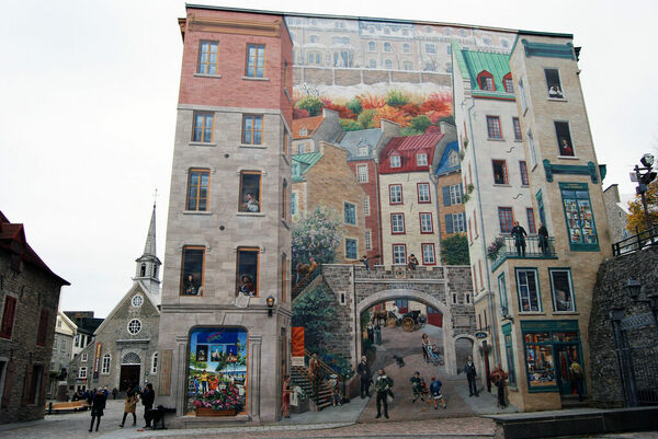 The Murals Of Quebec City Qu 233 Bec City Qu 233 Bec Atlas