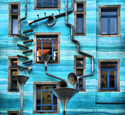 Kunsthofpassage Singing Drain Pipes Dresden Germany