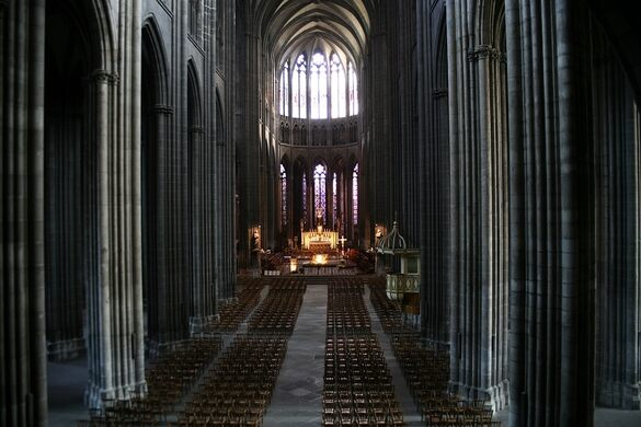 The Nave Of Cathedral Wikimedia Creative Commons