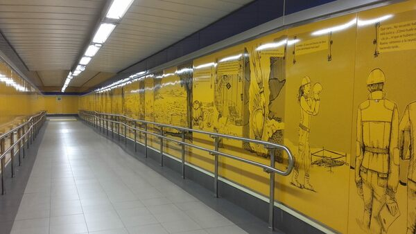 Carpetana Metro Station Museum Madrid Spain Atlas Obscura
