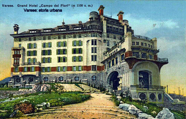 Grand Hotel Campo Dei Fiori As It Eared Circa 1910 Luca Segato Public Domain
