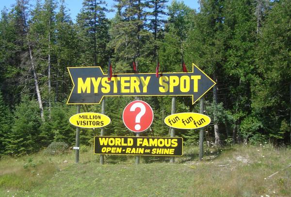 St Ignace Mystery Spot St Ignace Michigan Atlas Obscura