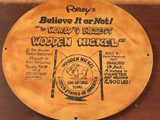 Old Time Wooden Nickel Company San Antonio Texas Atlas Obscura