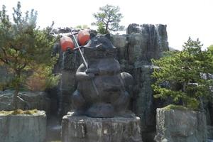 Kincho Raccoon Statue in Komatsushima Station Park