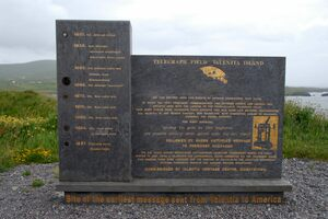 The memorial at Foilhommerum Cliff.
