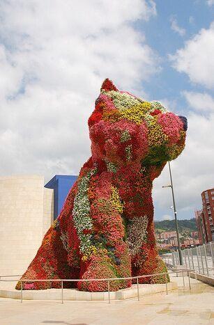 Jeff Koons Puppy Bilbao Spain Atlas Obscura